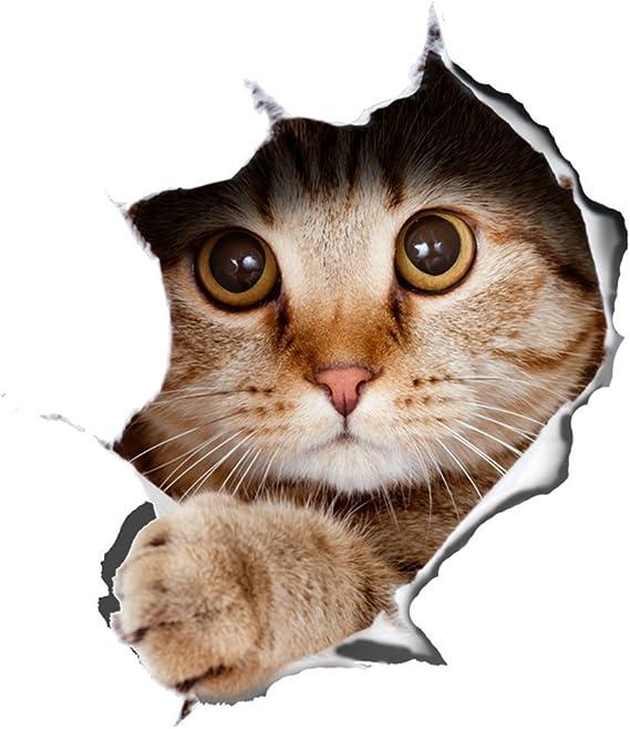 3D Wall Sticker Vinyl Kitten Cat DIY Room Fridge Decal Home Mural Art DIY Decor
