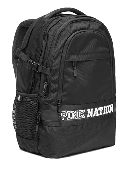 33fdbd8fbb9f Amazon.com  VICTORIA SECRET PINK NATION BACK PACK BACKPACK BLACK ...