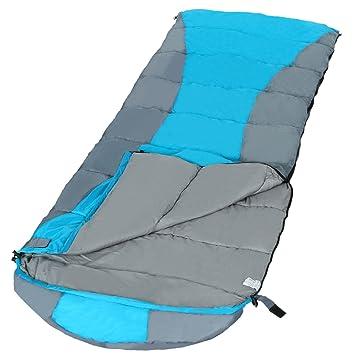Befied Saco de dormir rectangular para camping de tipo momia 2-3 personas saco de