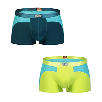 HCMP Boxer Briefs Mens Underwear Men Pack of 2 Soft Cotton Open Fly Underwear