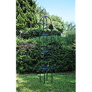 Yarti Garden Trellis Obelisk Metal Trellis With Sturdy Anti Rust Plastic  Kit Supporter Frame For