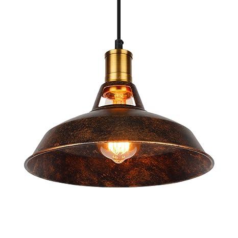 ASCELINA Loft Vintage Lámpara de techo colgante industrial lámpara LED para restaurante/barra/hogar creativo lámpara colgante de cadena lámpara