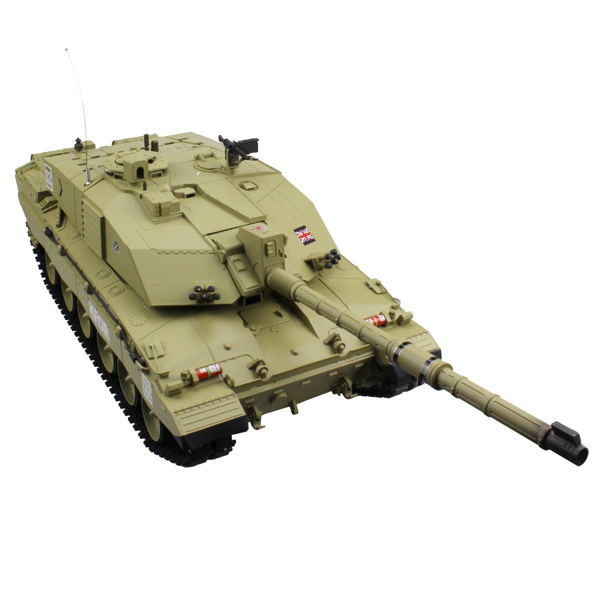 472bbfda0e87 Hugine 2.4Ghz 1 16 Emulational British Challenger 2 RC Main Battle Tank  With Smoke
