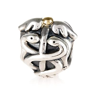 66a5522e2 Pandora 14 ct Yellow Gold Charm: Amazon.co.uk: Jewellery