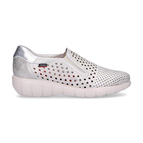 Callaghan Mujer 11603SILVER Plata Cuero Zapatillas Slip-On  Amazon.es   Zapatos y complementos 5be6ad2bd702