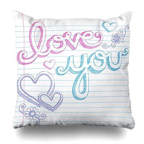 Pillow Home Funda de Almohada Cojín Formas Bosquejo Día de ...