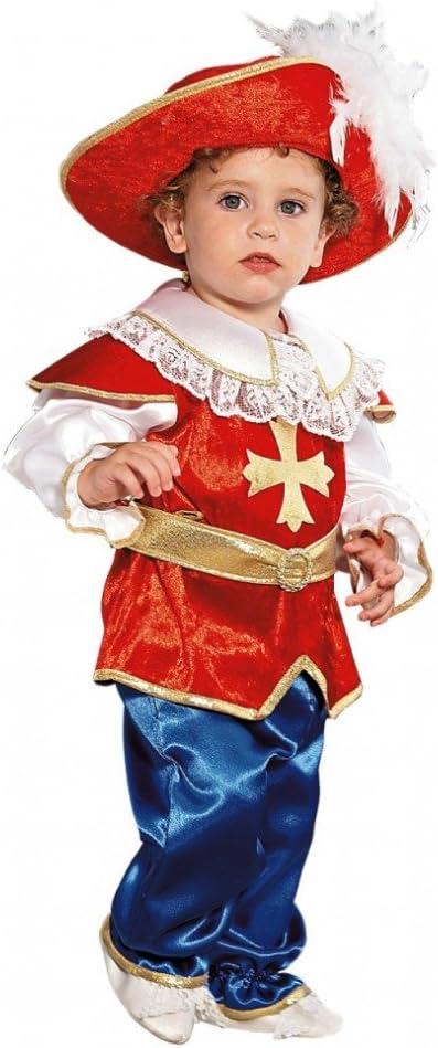 Disfraz de niño Mosquetero Boy Tamaño 92 Medieval Carnival Legend ...