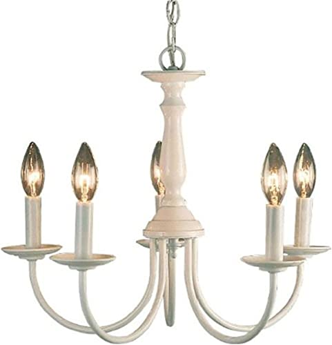 Volume Lighting V4515-6 5-Light White Chandelier, 18 x 18 x 15