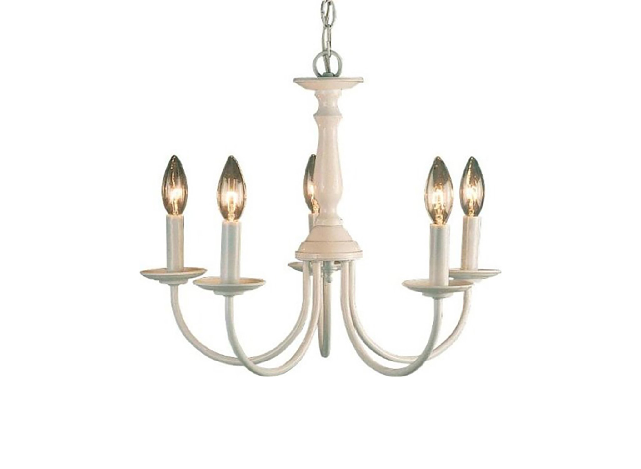 Volume Lighting V4515-6 5-Light White Chandelier, 18'' x 18'' x 15''