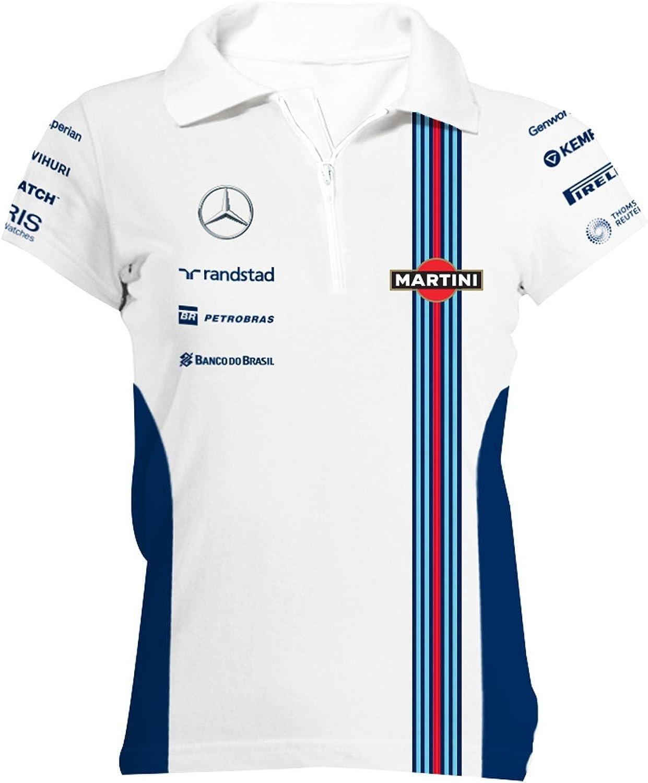 Williams Martini Racing Women's Team Zip Polo Shirt