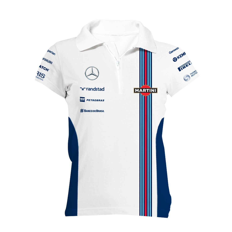 Williams Martini Racing Womens Team Zip Polo Shirt At Amazon