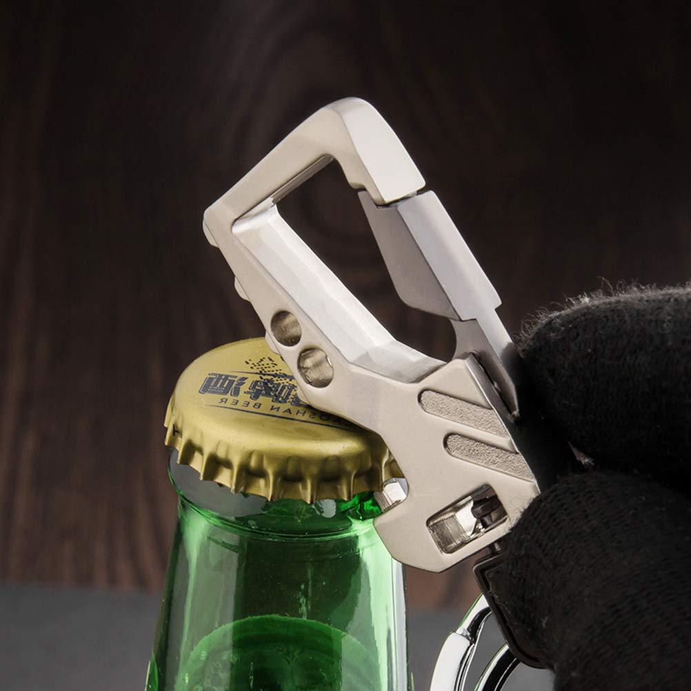 nuosen 2 Pcs Keychain Car Key Chain Metal Keyring Bottle Opener Keychain for Men