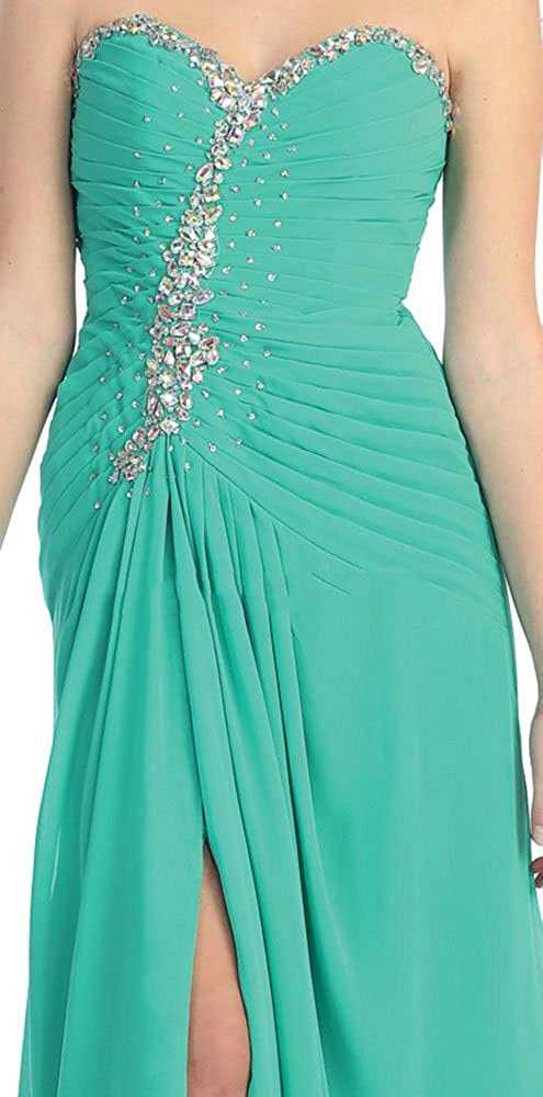 May Queen MQ983 Sweetheart Evening Prom Dress - Green - 12: Amazon.co.uk: Clothing