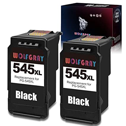 Wolfgray 2 Black Remanufacturados Canon PG-545XL CL-546XL 545XL ...