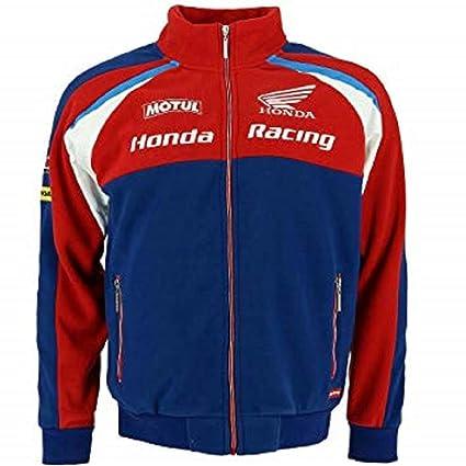 HONDA Endurance TT Racing - Sudadera de Forro Polar con Cremallera para Hombre, Hombre,