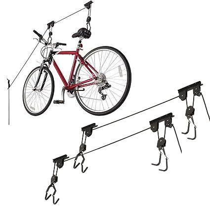 Ceiling Bike Rack >> Amazon Com Racor Bike Rack Lifts Ceiling Bicycle Mount 2 Pack Home