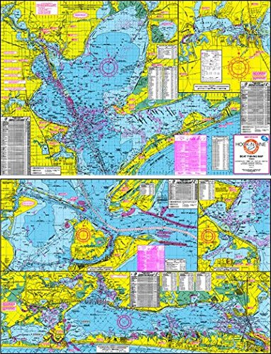 Topographical Boat Fishing Map of Galveston Bay - With GPS Hotspots