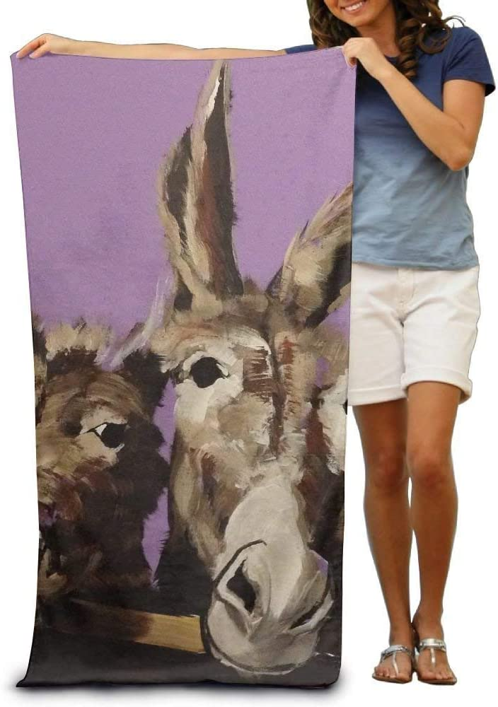 Super Absorbent Beach Towel Horse and Ass Print Polyester Velvet Beach Towels 31 X 51 Inch