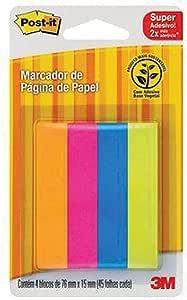 Marcador de Página Adesivo Post-it Flags de Papel 76 mm x 15 mm - 180 folhas