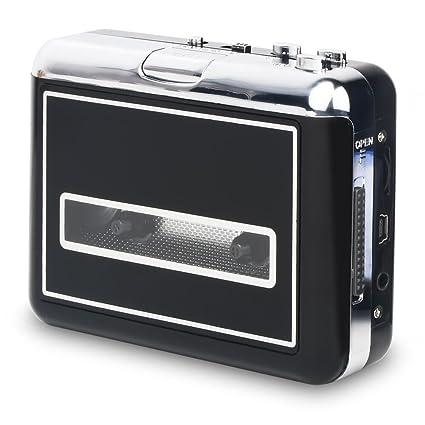 Rybozen USB Convertidor y Reproductor de Cinta casetes,Convertir Audio Cassette a MP3 Digital,
