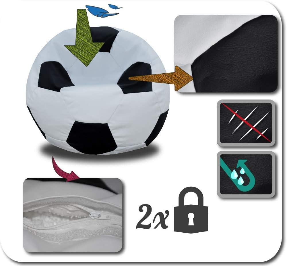 Schwarz-Weiss 250L FORTISLINE Fussball SITZSACK SITZKISSEN W424/_01 60CM