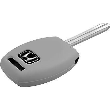 PhoneNatic Funda de Silicona para Mando de 2 Botones de Honda Civic/Accord/FIT en Gris Llave Plegable de 2-Key