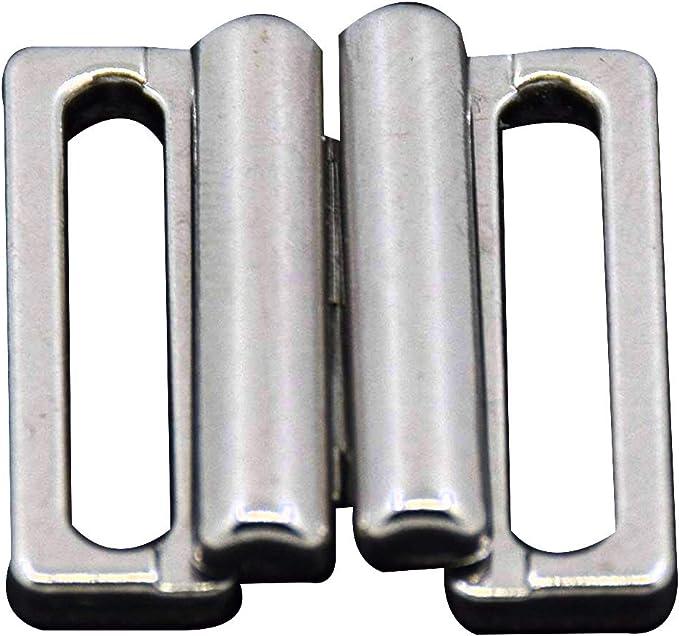 Bikini Closure 15 MM Bikini Fasteners Metal Silver Gold 85204