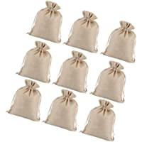 BESPORTBLE 15pcs Small Burlap Drawstring Bags Natural Linen Gift Candy Bags Favor Bags Jewelry Pouch for Wrapping Gifts…