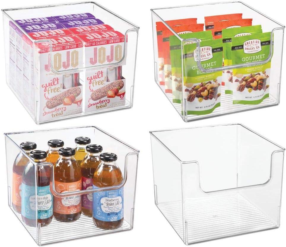 mDesign Juego de 4 cajas de almacenamiento de alimentos ...