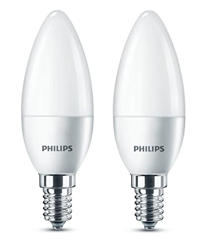 Philips led e14 small edison screw candle light bulb frosted 5 5 w 40