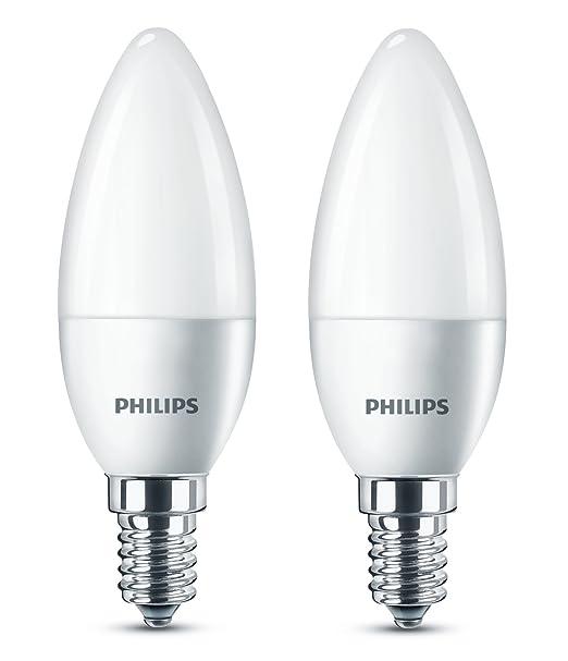 271 opinioni per Philips Lampadina LED, Oliva, Attacco E14, 5.5 W Equivalenti a 40 W, 2700 K, 2