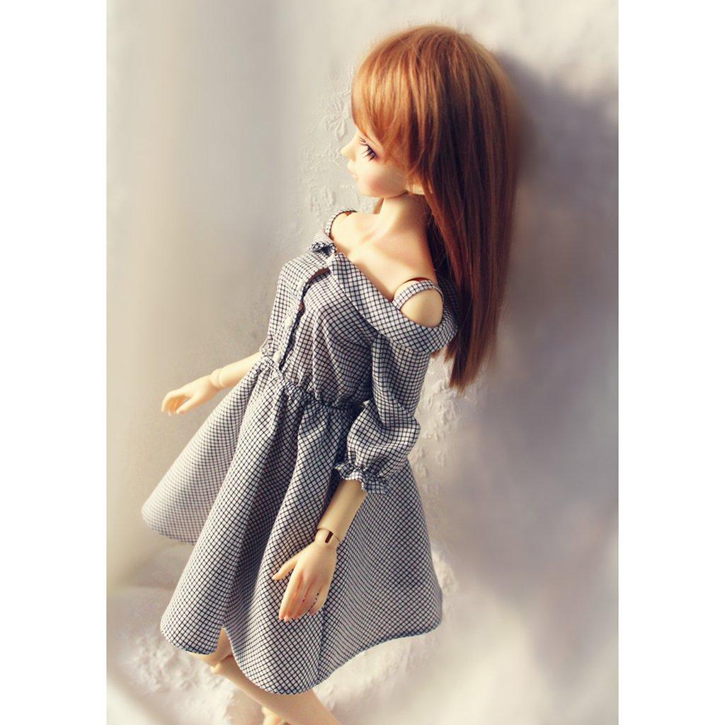 MagiDeal Puppen Kleidung Puppen Kleid Schultergurt Kleid F/ür 1//3 BJD Sd Luts Puppen