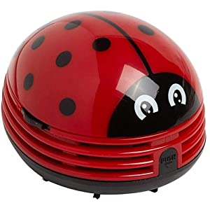 Ladybug Cartoon Mini Vacuum Cleaner Cordless Corner Desktop Vacuum Cleaner Mini Cute Vacuum Cleaner Dust Sweeper Battery Operated