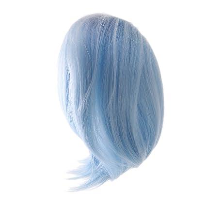 Fantasy Wave Curly Hair Wig for 18inch AG American Doll Doll DIY Making Blue