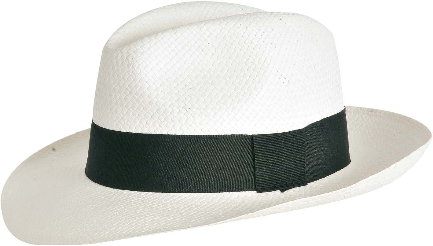VERDEMAX 5043 Cappello Panama Bianco in Paglia Naturale Taglia 55-57-59