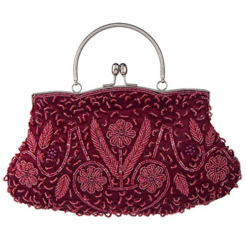 Beaded Vintage Clutch - Bagood Women's Vintage Style Beaded Sequined Evening Bag Wedding Party Handbag Clutch Purs