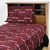 College Covers Texas A&M Aggies Printed Sheet Set - King - Solid