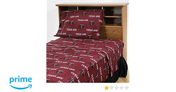 College Covers South Carolina Gamecocks Printed Sheet Set Twin X-Large Solid