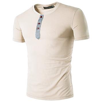 Hombre camiseta manga corta,Sonnena ❤ Chaleco estampado de flores casual para hombre Camiseta