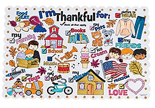 Color Your Own I'm Thankful for Thanksgiving Place Mats (1 Dozen) - Thanksgiving Placemat