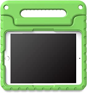 MoKo Case Fit iPad Pro 9.7 - Kids Friendly Shock Proof Convertible Handle Light Weight Super Protective Stand Cover Case with Pencil Holder Fit iPad Pro 9.7 Inch 2016 Release Tablet, Green