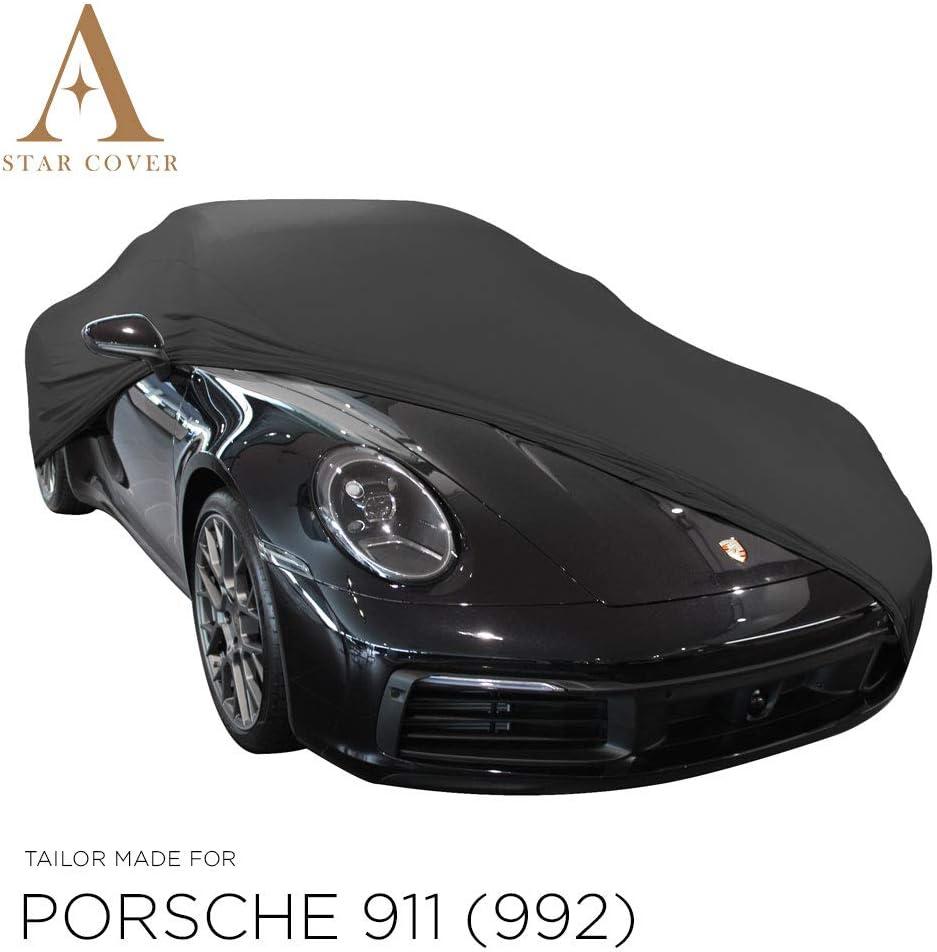 Autoabdeckung Schwarz Passend FÜr Porsche 911 992 Ganzgarage Innen SchutzhÜlle Abdeckplane Schutzdecke Cover Auto