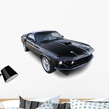 Amazon Com Wallmonkeys Black Muscle Car Wall Decal Peel And Stick