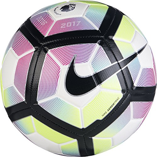 Balon de Fútbol Nike de la Premier League Strike Colores Blanco y Morado 5