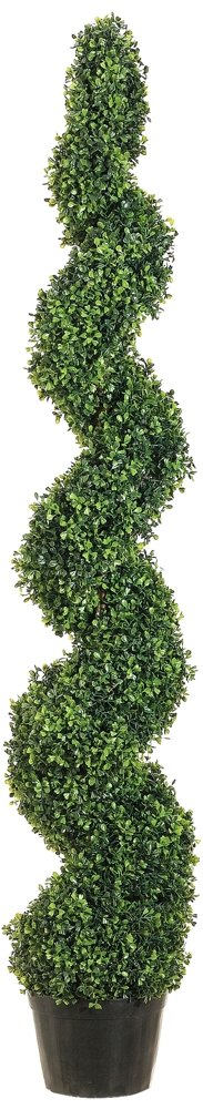 Allstate Floral & Craft Knock Down Pond Boxwood Spiral Topiary Plant, 5-Feet LPB715-GR