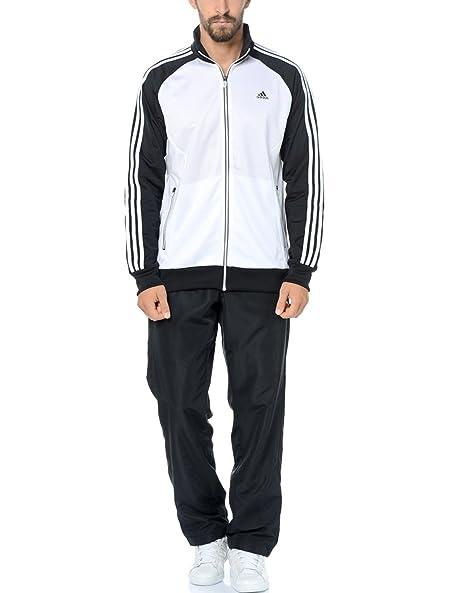 Adidas - Tuta da uomo Riberio nero - nero bianco 162 Centimetro Uomo ... efb542ec4b5b