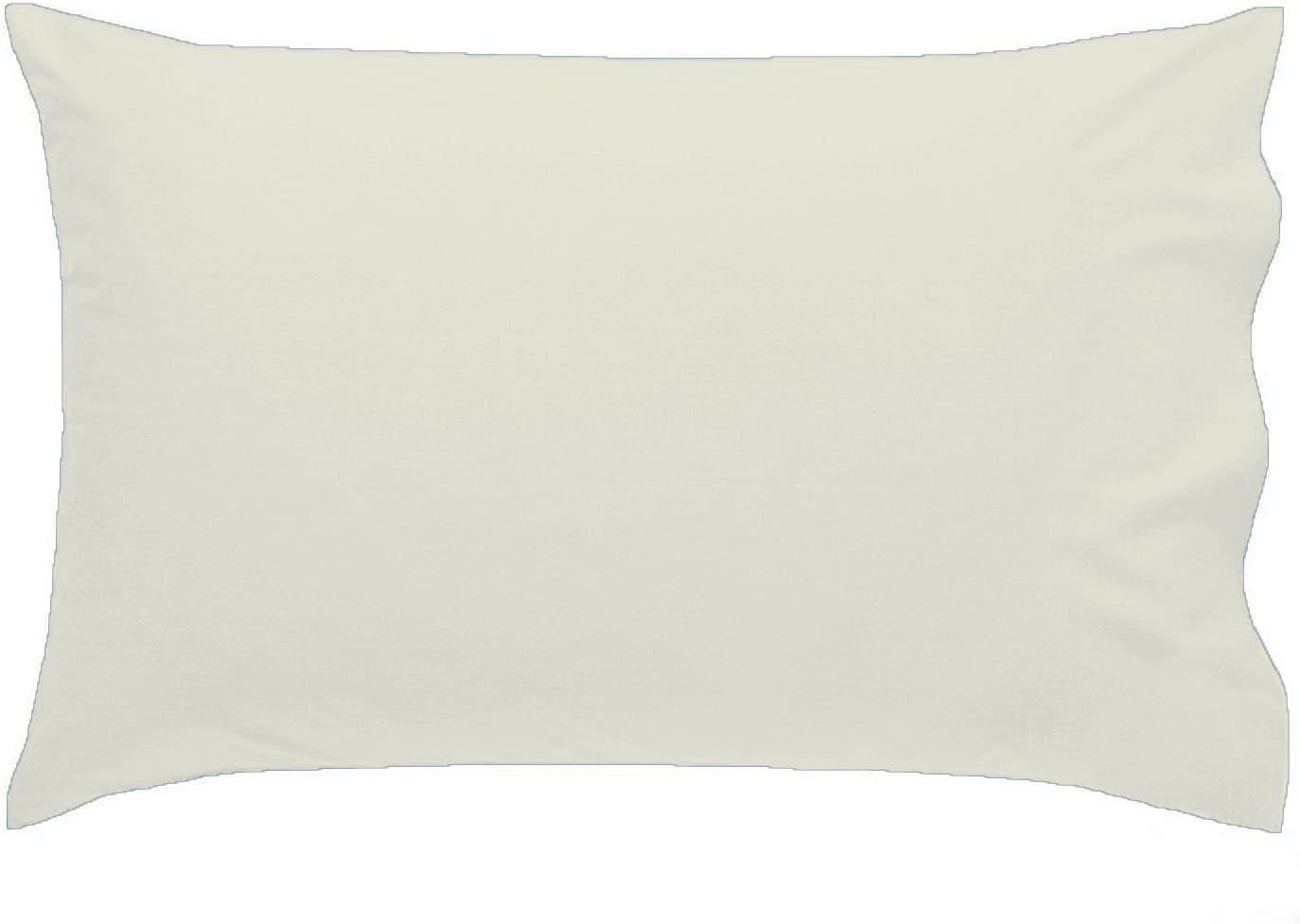 2 x LUXURY PILLOW CASES POLYCOTTON PAIR PACK HOUSEWIFE BEDROOM PILLOW COVER HUMLIN (Cream) by HUMLIN: Amazon.es: Hogar
