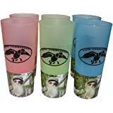 Duck Commander Duck Dynasty Uncle Si Tea Cups 16 Ounce Pink, Green, Blue Drinkware (Pack of 6)