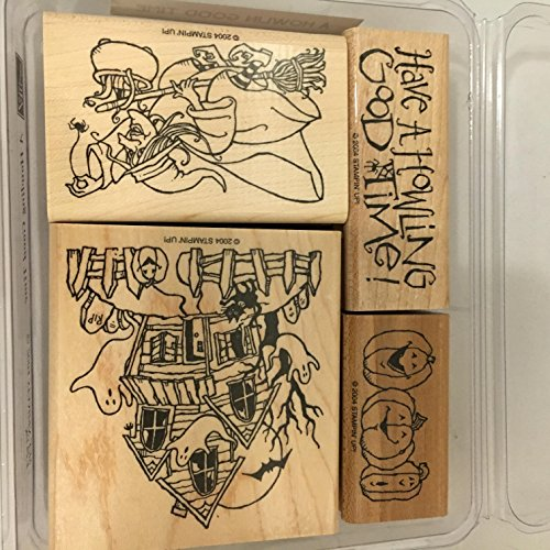 Stampin' Up! A Howlin Good Time Stamp Set 2004 Halloween, Witch, -