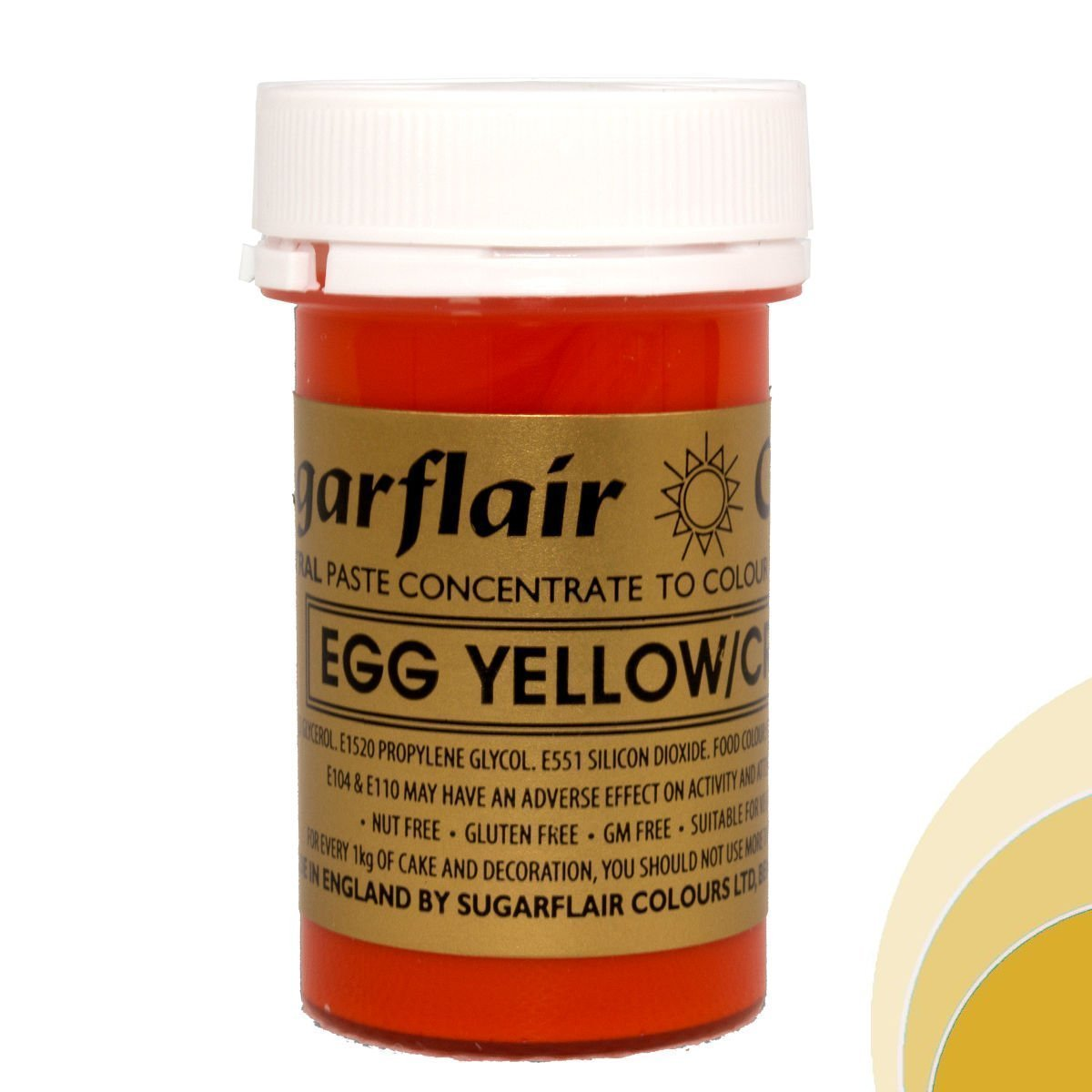 Sugarflair Spectral Concentrated Paste Colour - Egg Yellow / Cream